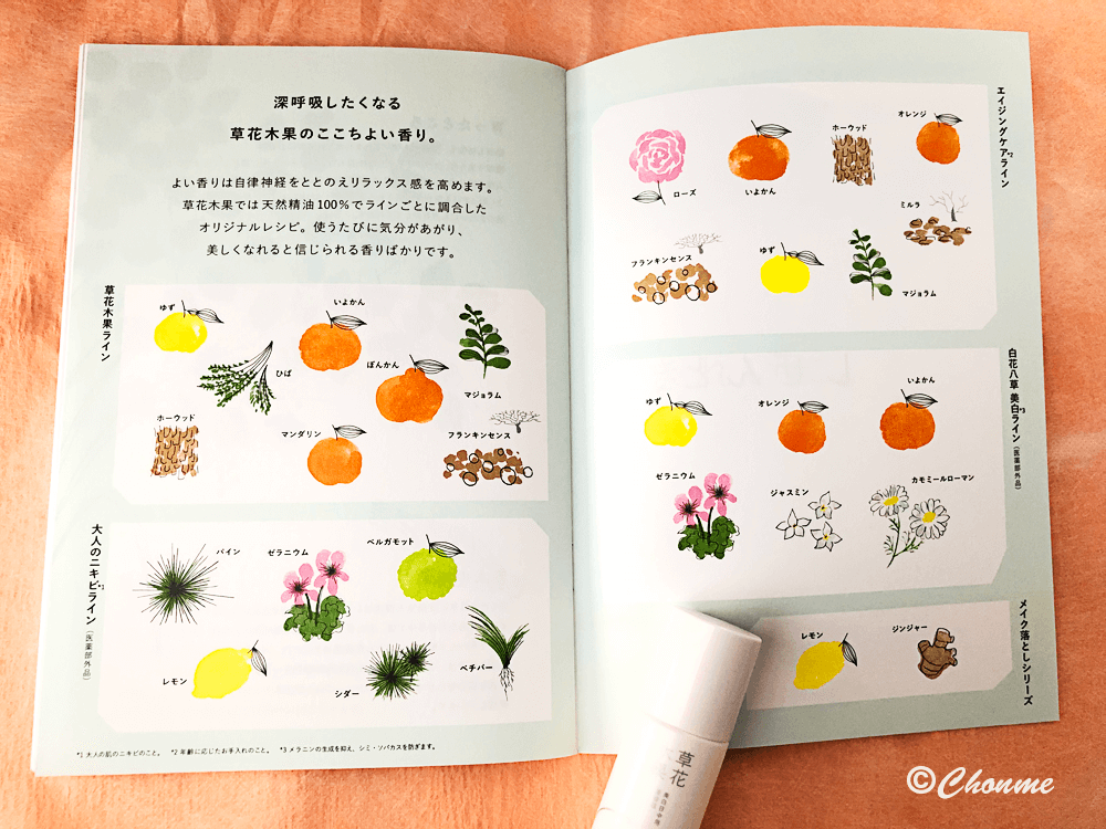 草花木果パンフレット